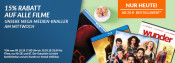 ReBuy.de: 15% Rabatt auf alle Filme (MBW 20€) bis 10.10.2018