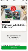 Thalia.de: 15% auf alle Blu-rays und DVDs nur heute