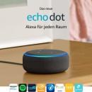 Amazon.de: Das neue Echo Dot (3. Gen.) Intelligenter Lautsprecher mit Alexa, Anthrazit Stoff für 29,99€