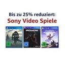 Amazon.de: Tagesangebot – Bis zu 25% reduziert: Sony Video Spiele