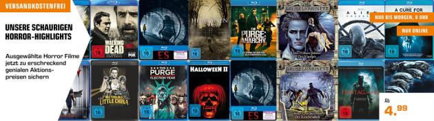 Saturn.de: Halloween Aktion – Schaurige Horror-Highlights u.a. Alien: Covenant 4K UHD für 13,99€ inkl. VSK