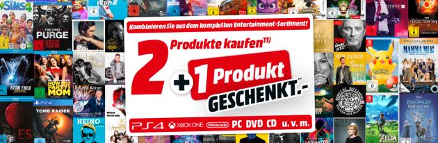 Amazon kontert MediaMarkt.de: 3 für 2 auf das gesamte Sortiment Filme, Games und Musik (bis 10.12.18)