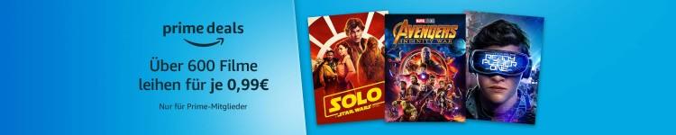Amazon.de: Über 600 Filme für je 0,99€ leihen (Nur für Prime-Mitglieder)