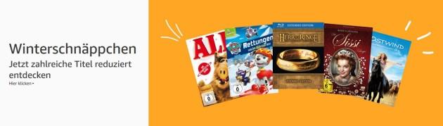 Amazon.de: Winterschnäppchen – Filme reduziert und 10 Blu-rays für 50 EUR (bis 25.11.18)