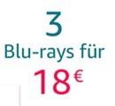 Amazon.de: Neue Aktionen u.a. 3 Blu-rays für 18 EUR und 4 Blu-rays für 22 EUR