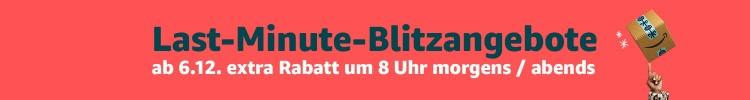 [Info] Amazon.de: Last-Minute-Blitzangebote ab 06.12. mit Rabatten von bis zu 70%