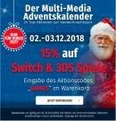 Mueller.de: 15% Rabatt auf Nintendo Switch und 3DS Spiele