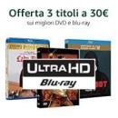 Amazon.it: Aktionsangebot 3X30 + VSK mit u.a. vielen 4K UHD Blu-rays: z.B. Planet der Affen, Transformers, Die Mumie, Bourne