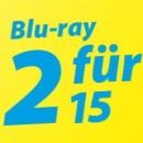 Mueller.de: 2 Blu-rays oder 3 DVDs für 15€ (18.03. – 27.04.2019)