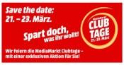 """MediaMarkt.de: Club Tage 21. – 23. März """"Spart doch, was ihr wollt!"""" (bis 15% Rabatt)"""