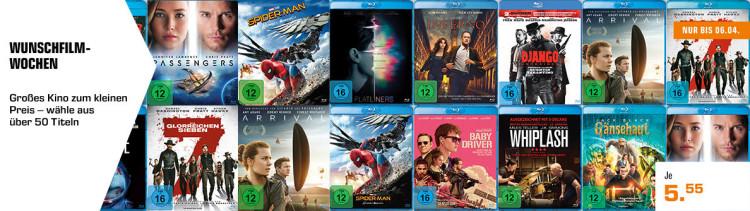 MediaMarkt.de / Saturn.de: Wunschfilmwochen – Blu-rays für je 5,55€