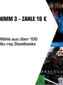 Saturn.de: 3 Steelbooks für 18€ inkl. VSK (18.04. – 23.04.19)