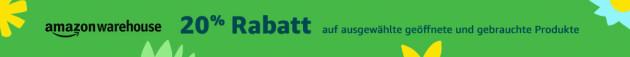 Amazon.de: Warehousedeals – 20% Rabatt auf geöffnete & gebrauchte Produkte