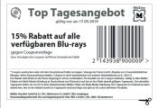 Müller.de + Filialen: 15% auf alle verfügbaren Blu-rays – Nur Heute 17.05.2019