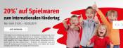 Müller.de: 20% Rabatt auf Spielwaren und Games (vom 31.05.-02.06.2019)