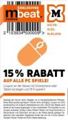[Offline] Müller: 15% Rabatt auf alle PC Spiele (gültig vom 10.05.-16.05.2019)