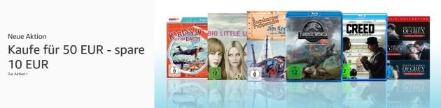 Amazon.de: Neue Aktionen u.a. Kaufe für 50 € – spare 10 € (bis 30.06.19)