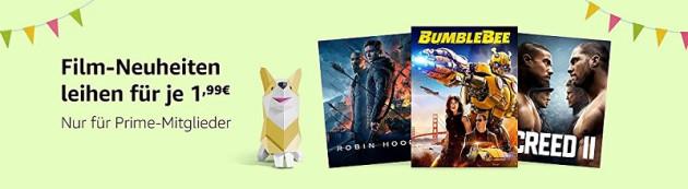 Amazon.de: Film-Neuheiten für je 1,99 EUR in HD leihen (Nur für Prime Mitglieder)