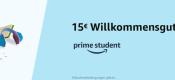 Amazon.de: Prime Student anmelden und 15€ Gutschein erhalten