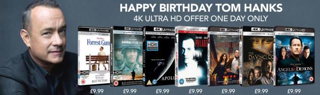 Zoom.co.uk: Tom Hanks UHD Blu-rays für je 10,26€ + VSK