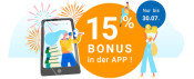 Momox.de: 15 % Bonus in der App (gültig bis 30.07.2019)