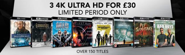 Zoom.co.uk: 3 4K Ultra HD For £30