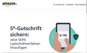 Amazon.de: 5€ Aktions-Gutschein für das Hinzufügen des SEPA Lastschriftverfahrens