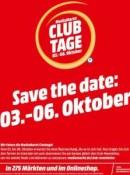 """MediaMarkt.de: Club Tage 03. – 06. Oktober """"Spart doch, was ihr wollt!"""" (bis 15% Rabatt)"""