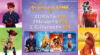 Zoom.co.uk: Disney Time – 2 Blu-rays für £15 und 2 3D Blu-rays für £18