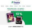Thalia.de: 13% Herbst-Rabatt auf Spiele, Filme & mehr** (bis 14. Oktober)