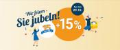 Momox.de: Jetzt wird gefeiert: 15 Jahre Momox + 15 % zusätzlich auf den Verkaufswert