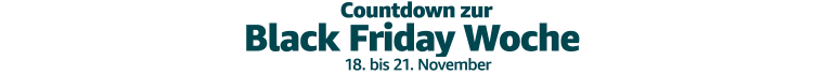 Amazon.de: Countdown zur Black Friday Woche (vom 18. – 21. November)