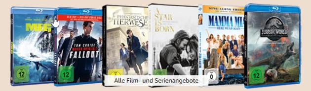 Amazon.de: Neue Überraschungsangebote u.a. Film- und Serienschnäppchen & 4 Filme für 22€ (bis 18.11.2019)