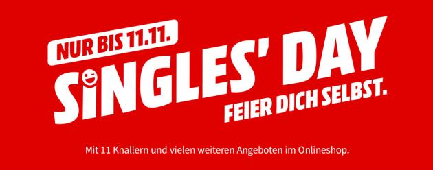 MediaMarkt.de & Saturn.de: Singles Day Angebote (bis 11.11.19) u.a. mit paydirekt 11,11€ Direktabzug erhalten (50€ MBW)