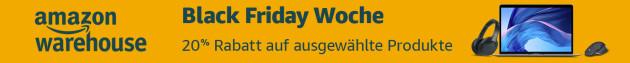 Amazon.de: 20% auf ausgewählte Amazon Warehouse Deals in Black Friday Woche (bis 02.12.19)