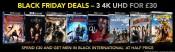Zoom.co.uk: Black Friday Deals – 4K UHD Blu-rays 3 für £30