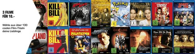 Amazon kontert Saturn.de: Neuer Prospekt u.a. 3 Filme für 10€ und 3 Spiele 49€