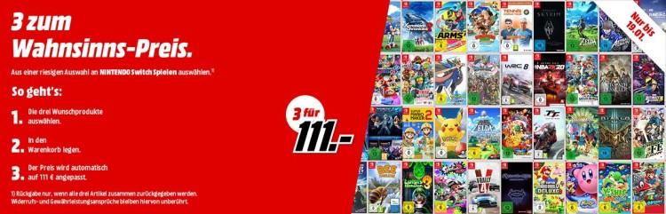 MediaMarkt.de: 3 Switch Spiele für 111€ (bis 19.01.20)