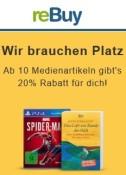 Rebuy.de: 20% Rabatt ab 10 Medienartikeln (ohne MBW)