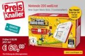 Buecher.de: Nintendo 2DS weiß/rot + New Super Mario Bros. 2 (vorinstalliert) für 69,99€ inkl. VSK (nur heute gültig)