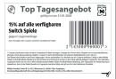 Müller.de: Top Tagesangebot: 15 % auf alle verfügbaren Switch Spiele (nur gültig am 31.01.2020)