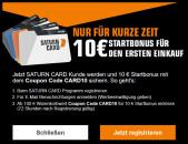 Saturn.de: Saturn Card – 10€ Startbonus (nur für Neukunden)