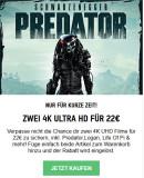 Zavvi.de: 4K Angebot – 2 4K Ultra HD Blu-ray Filme für 22€ + VSK mit u.a. Predator – 4K Ultra HD & Blu-ray Zavvi Exklusives Steelbook