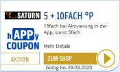 Payback.de/Saturn.de: 5 + 10 fach Punkte auf Saturn.de bei Aktivierung in der App (gültig bis 29.03.2020)