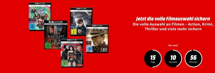 MediaMarkt.de: 4K Blu-rays für je 14,61€ und 3 Spiele für 47,77€