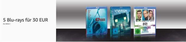Amazon.de: Neue Aktionen u.a. 5 Blu-rays für 29,25 EUR (bis 30.08.20)
