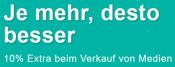 ReBuy.de: Je mehr, desto besser. 10% Extra beim Verkauf von Medien