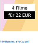 Amazon.de: Filmklassiker –  4 für 21,44€ (21. Sep. 2020 bis 27. Sep. 2020)