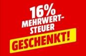 MediaMarkt.de: 16% Mehrwertsteuer geschenkt 22. bis 25. Oktober (online und im Markt)