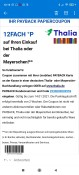 Thalia.de: 12-fach Payback-Coupon (einmalig einlösbar bis 14.01.2021)